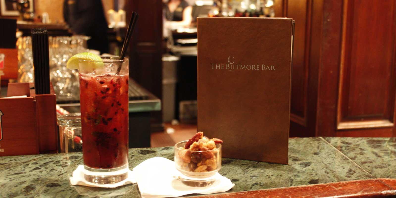 Enjoy a mixed drink at the Biltmore Bar!