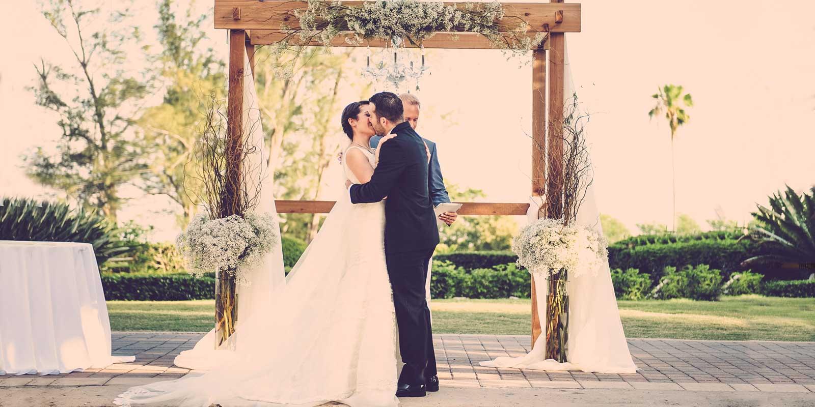 A couple enjoy their Biltmore wedding ceremony