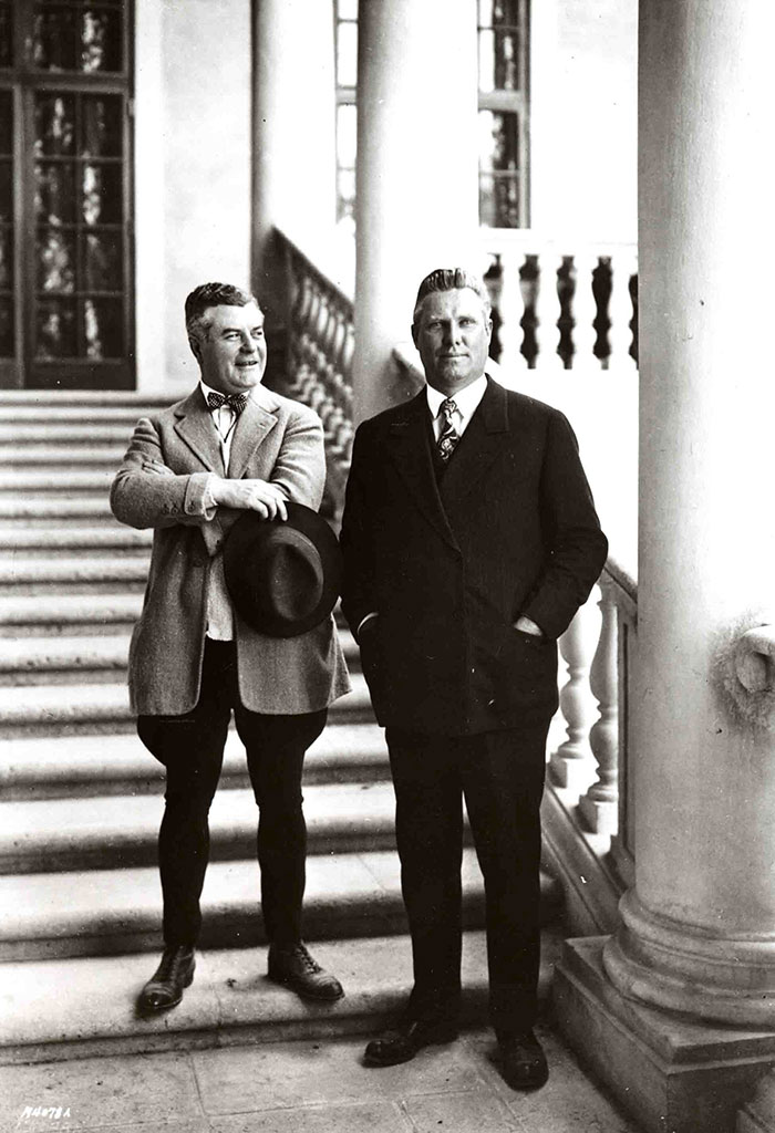 John McEntee Bowman and George Merrick creators of the Biltmore just before it's opening