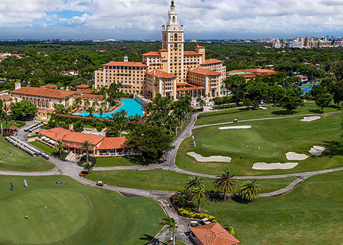 The Biltmore Hotel Aerial view of property