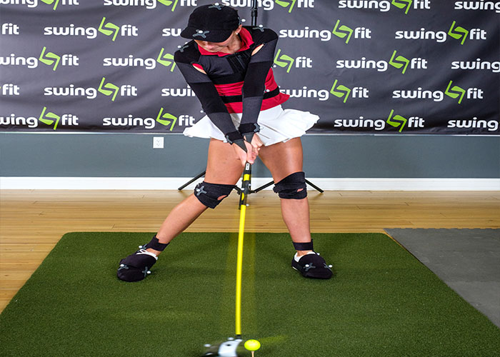 SwingFit Girl getting golf cub fitted