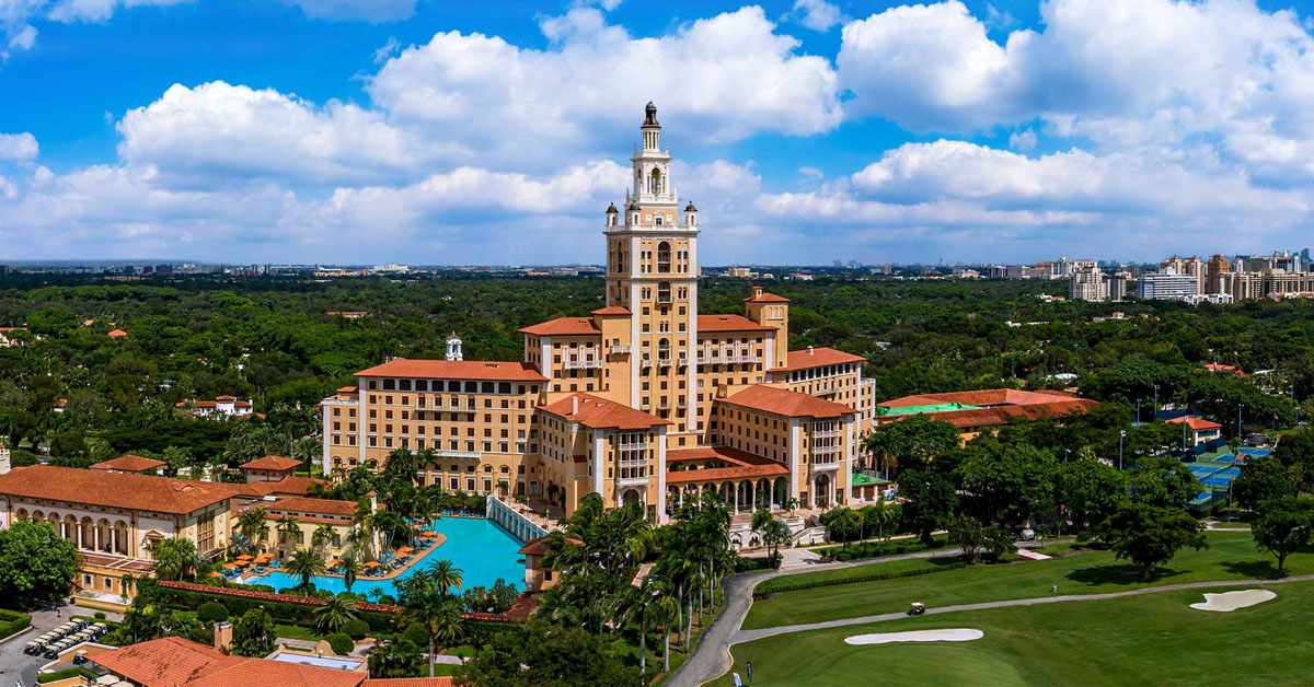 Biltmore Hotel aerial photo of the property
